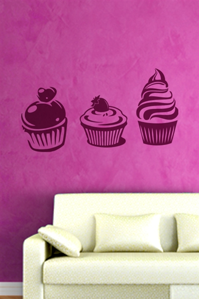 cupcakes wall decals wall stickers art without boundaries cupcake wall decals 2017 grasscloth wallpaper
