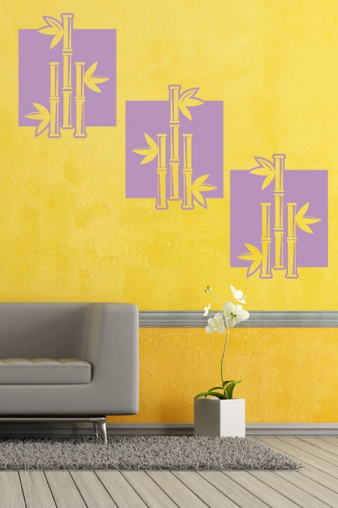 Square wall decals