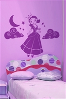 Lollipop Princess Wall Decals