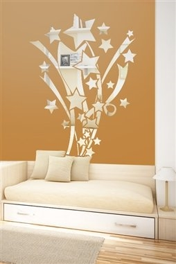 Wall Decals  Reflective Stars and Ribbons