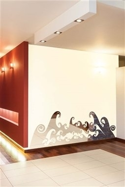 Wall Decals  Reflective Happy Waves