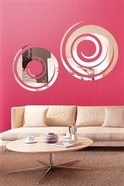 Wall Decals  Swirl Mirror -Reflective Decals