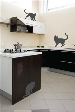 Wall Decals  Cat Mirror -Reflective Decals