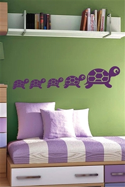 Wall Decals  Turtles Mirror -Reflective Decals