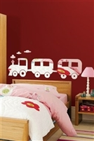 Wall Decals  Train Mirror -Reflective Decals