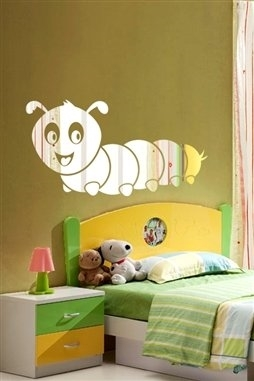 Wall Decals  Caterpiller Mirror -Reflective Decals