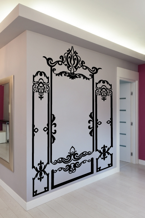 Wall Decals Baroque Molding- WALLTAT.com Art Without