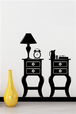 Wall Decals  Double Nightstands