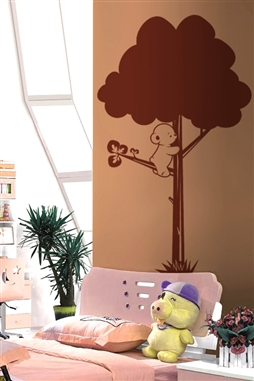 Kids Wall Decals -Bear in the Branches