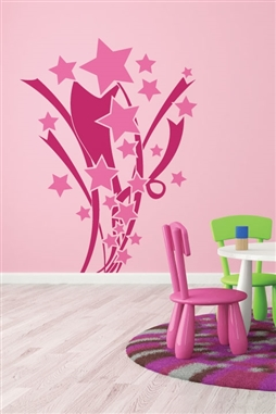 Kids Wall Decals -Stars and Ribbons