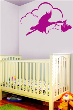 Baby Wall Decals -Baby on Swings