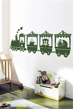 Nursery Wall Decals -Animal Train