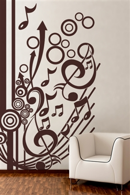 Wall Decals  Music Abstract