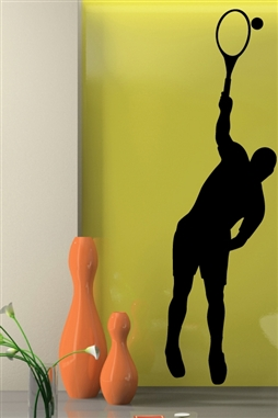 Wall Decals Tennis Serve Mens