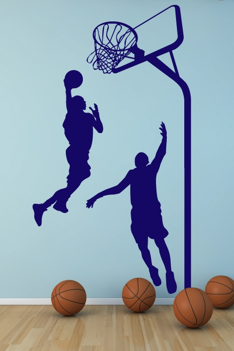 Wall decals basketball walltatcom art without boundaries for Basketball wall decals