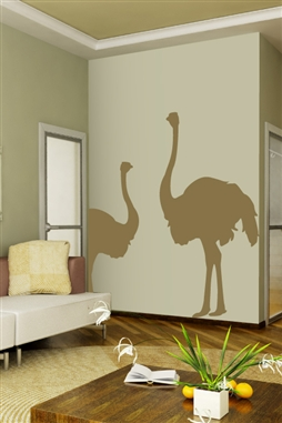 Wall Decal  Ostrich In The Sand