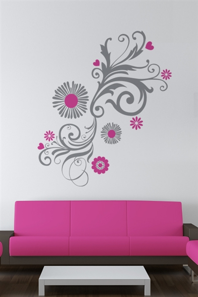 Wall Decals  Graphic Floral Angle 1