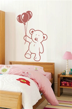 Baby Wall Decals -Bear and Balloon