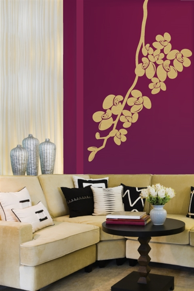 Orchid Wall Decals