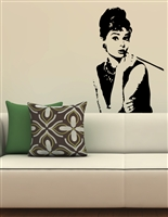 Audrey Hepburn Wall Decals