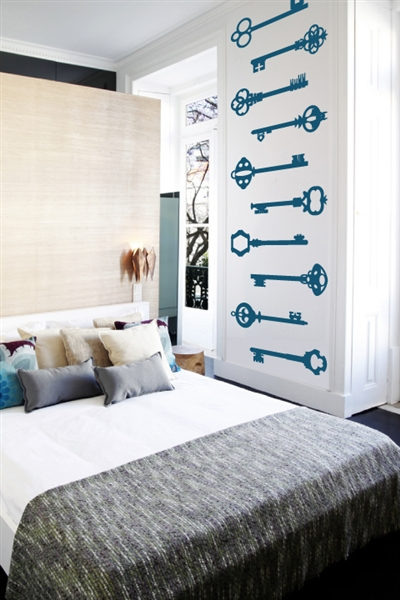 Vintage Keys Wall Decals