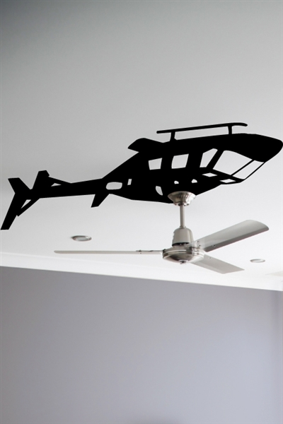 Helicopter Ceiling Fan Wall Decals