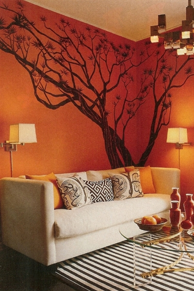 Japanese Maple Tree Wall Decal, Bonsai Tree