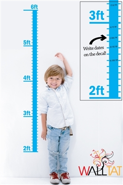 Kids Growth Chart Wall Decals