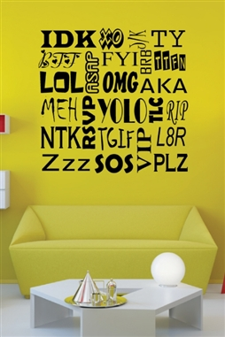Acronyms Text Wall Decals