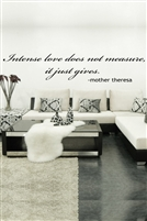 Intense Love Saying Wall Decals
