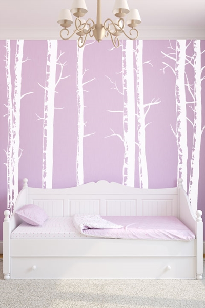 Wall decals birch trees art without boundaries for Birch trees wall mural