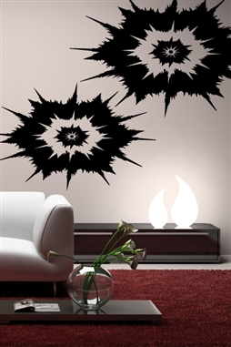 Wall Decals Ikat Burst