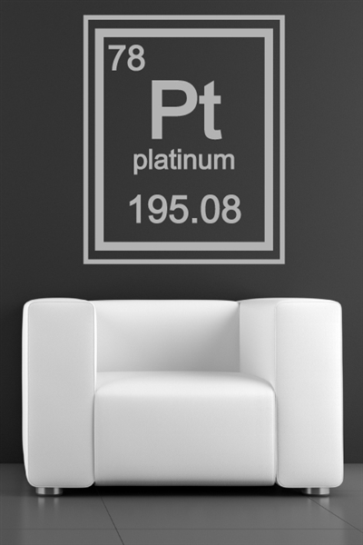 Platinum Periodic Table Element Wall Decals
