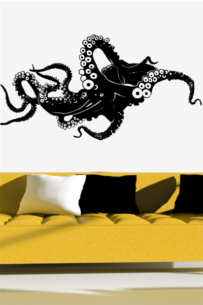 wall decals octopus art without boundaries. Black Bedroom Furniture Sets. Home Design Ideas
