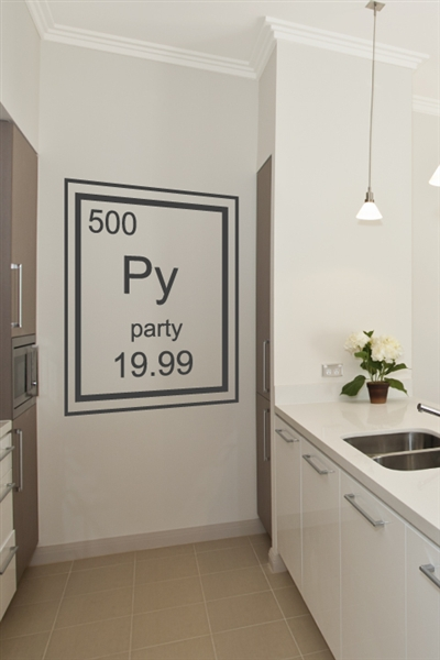 Party Periodic Table Element Wall Decals