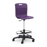 Analogy Student Swivel Lab Stool w/footring