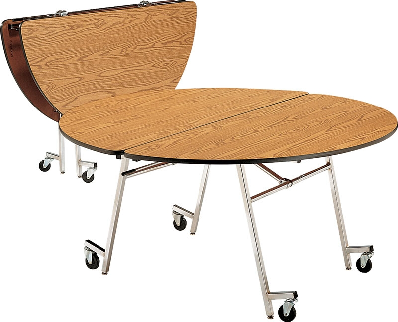 Mobile Cafeteria Tables Folding 60 Quot Round