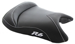 """New Image"" Custom R6 R6S Front Seat Black Carbon Fiber w/Silver Embroidering"