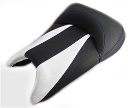 Custom R6 R6S Front Seat Black & White Carbon Fiber w/Blue Stitching