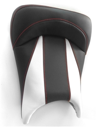 Custom R6 R6S Front Seat Black & White Carbon Fiber w/Red Stitching
