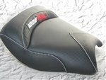 Custom Honda CBR 1000RR Front Seat Black Carbon Fiber w/Red & Silver Embroidering