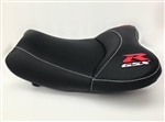"""New Image"" Black/Red & Silver GSXR 600/750/1000 Custom Shaped & Covered Front Seat"