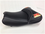 """New Image"" Yellow/Red & Silver GSXR 600/750/1000 Custom Shaped & Covered Front Seat"