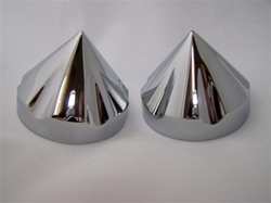 Chrome 30mm Hex Tribal Fork Caps