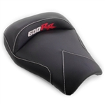 Custom Honda CBR 600RR Front Seat Black Carbon Fiber w/Silver & Red Embroidering