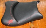 """New Image"" Custom Shaped Hayabusa Front Seat w/Yellow Embroideringg"