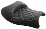Hayabusa Custom Shaped Black  Front Seat w/White Cross Stitching
