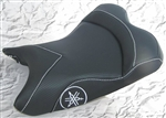 """New Image"" Custom R6 R1 Front Seat Black Carbon Fiber w/Silver Embroidering"