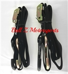 Bikemaster Securing Tiedowns w/ Integrated Soft Hook BLK1 in