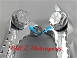 Hayabusa Chrome 3D Engraved Hex Brake & Clutch Lever Bolts
